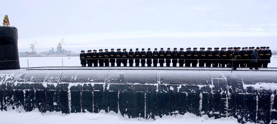 Das russische U-Boot Yurij Dolgorukyj