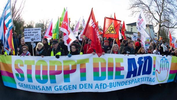 Proteste gegen AfD-Parteitag