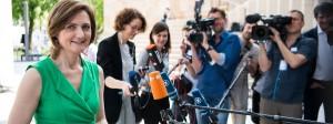 Simone Lange in Wiesbaden am Vortag des SPD-Parteitags.