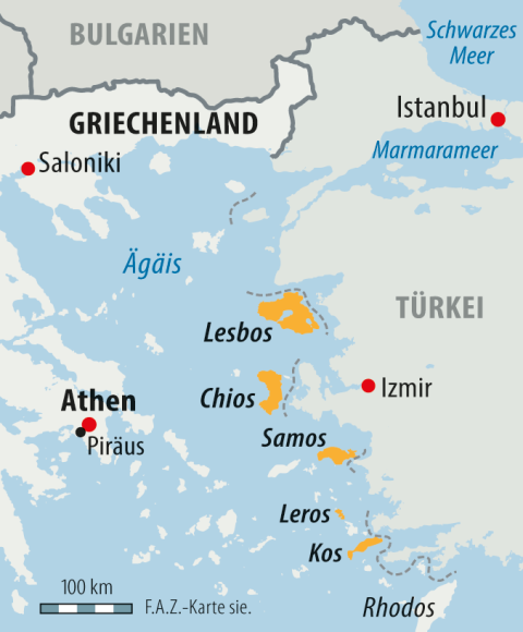 griechenland flüchtlinge karte Bilderstrecke zu: Flüchtlingspakt: So viele Flüchtlinge wie nie in