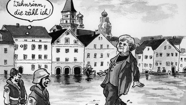 Karikatur / Das Wunder von Passau / Greser & Lenz