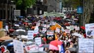 Demonstration gegen die Vernachlässigung der spanischen Provinz Ende März in Madrid