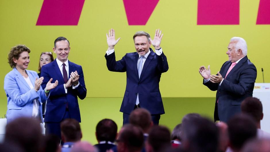 Christian Lindner beim FDP-Parteitag am Sonntag in Berlin.