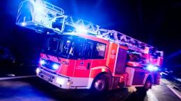Großeinsatz der Feuerwehr am Bahnhof Bischofsheim
