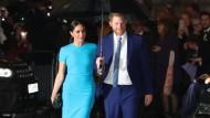 Abschied von der royalen Bühne: Harry und Meghan bei einem ihrer letzten Auftritte für das britische Königshaus Anfang März.