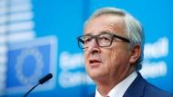 Der EU-Kommissionspräsident Jean-Claude Juncker