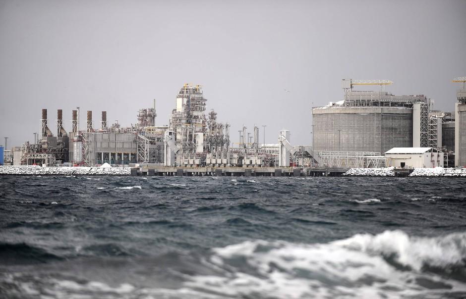 Die moderne LNG-Anlage in Hammerfest