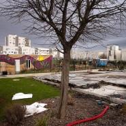 Sollte der Integration dienen: die abgebrannten Reste des Zirkuszeltes.