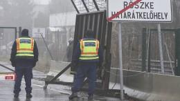 Warnschüsse gegen Migranten bei versuchtem Grenzdurchbruch