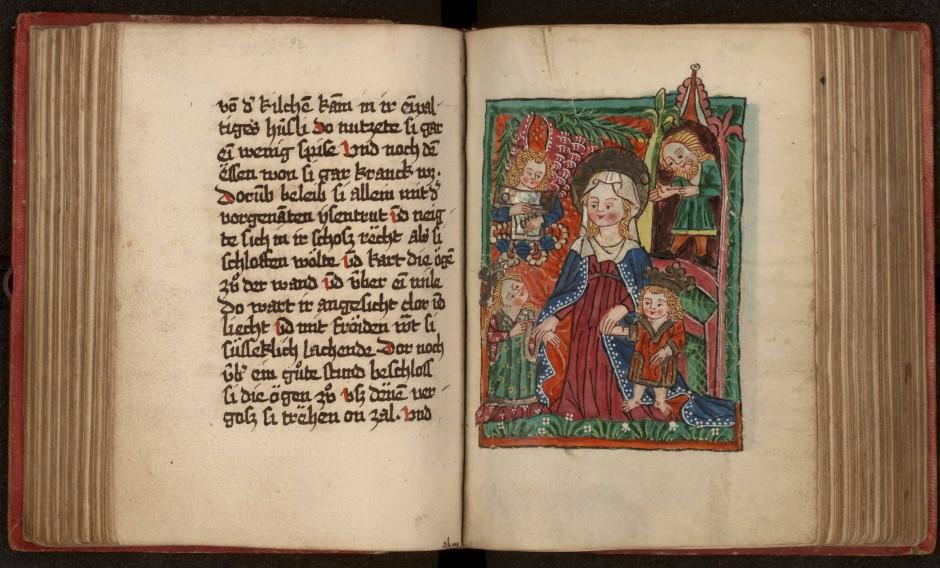 Illustriert von Sibilla von Bondorf: Sammelhandschrift mit deutschen Texten zur heiligen Elisabeth von Thüringen, fertiggestellt im Jahr 1481