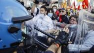 Proteste in Mailand Ende Mai