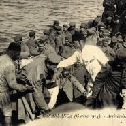 Deutsche Kriegsgefangene in Casablanca. In Gefangenschaft waren auch Frauen und Kinder.