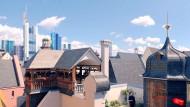 Über den Dächern der Altstadt: Szene aus dem Projektfilm