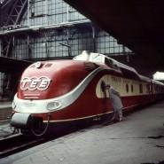 Ganz schön schnittig: ein TEE auf einer undatierten Aufnahme im Frankfurter Hauptbahnhof