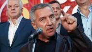Milo Djukanović, der mächtigste Mann Montenegros: Der Putsch im Oktober vergangenen Jahres sollte sich gegen den Vorsitzenden der Regierung richten. (Archivbild aus dem Oktober 2016)