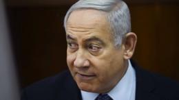 Israels Ministerpräsident Netanjahu wird wegen Korruption angeklagt
