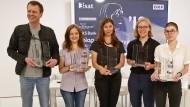 Die Gewinner: Bov Bjerg, Özlem Dündar, Tanja Maljartschuk, Raphaela Edelbauer und Anna Stern