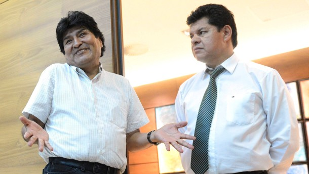 Bolivian President Evo Morales at Vienna airport
