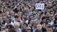 Demonstranten in Athen, aufgenommen am Freitag