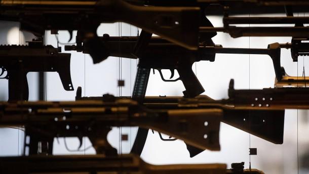 Das lange Ende eines Sturmgewehrs