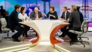 """Maybrit Illner diskutiert in ihrer Sendung am 13. Dezember 2018 mit ihren Gästen zum Thema: """"Klimaretter Deutschland – gut gedacht, schlecht gemacht?"""""""