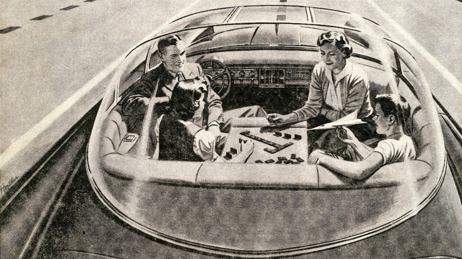 Zurück in die Zukunft: Selbstfahrende Autos begeisterten schon 1957, wenn auch nur auf Papier.