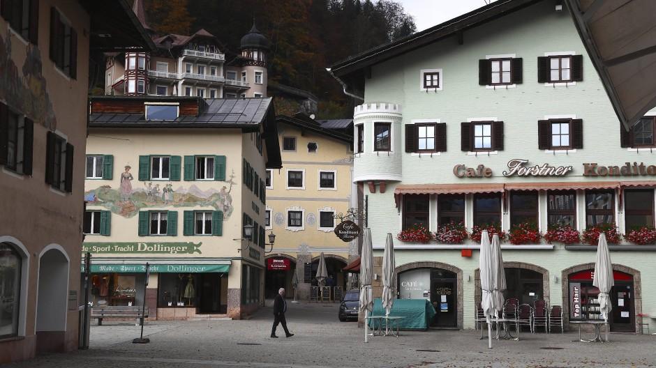 Im Lockdown: Die Stadt Berchtesgaden in Bayern