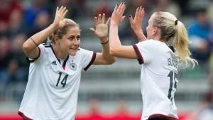 Offensiv-Spektakel der deutschen Fußballfrauen