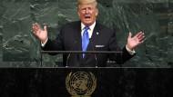Streitbar wie immer: Der amerikanische Präsident Donald Trump