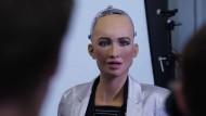 Sophia, der von Hanson Robotics entwickelte humanoide Roboter