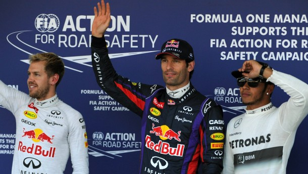 Webber schnappt Vettel die Pole weg