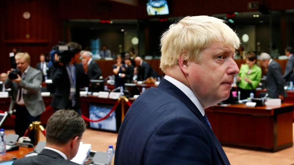 Boris in Brüssel: der neue britische Außenminister Johnson beim Treffen mit seinen EU-Kollegen
