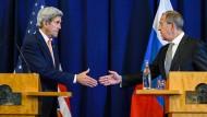 Kerry und Lawrow ebnen Weg für Waffenruhe in Syrien