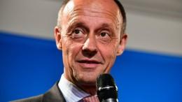 Merz offiziell als Kandidat für CDU-Vorsitz vorgeschlagen