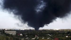 Zentrum von Donezk unter Beschuss
