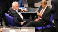 Ende der Ruhepause: Wolfgang Kubicki und Christian Lindner während der konstituierenden Sitzung des Bundestags im Oktober
