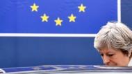 Die britische Premierministerin Theresa May am Freitag in Brüssel