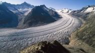 Klimawandel am Aletsch: Auch der größte Gletscher der Alpen schmilzt langsam