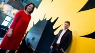 Sie oder er: Die beiden Bundesvorsitzenden von Bündnis 90/Die Grünen Annalena Baerbock und Robert Habeck im März 2021