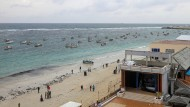 Das Meer vor der somalischen Hauptstadt Mogadischu.