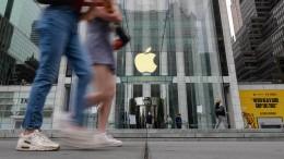 Apple legt kräftig zu