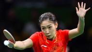 Shiwen Liu und das chinesische Team sind auch in Rio im Tischtennis unschlagbar.