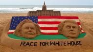 Trump und Clinton vor erstem Duell in Umfragen fast gleichauf