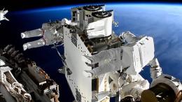 Neue Sonnensegel für die ISS