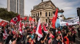 Proteste in Kassel und Frankfurt