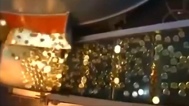 Ein Rucksack voller Goldmünzen