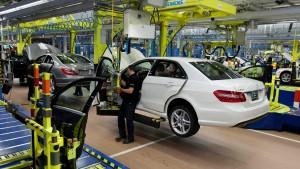 Daimler drosselt Produktion im Werk Sindelfingen