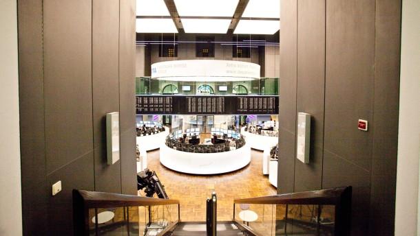 Europäische Union verbietet Börsenfusion Deutsche Börse und New York Stock Exchange - Pressekonferenz in der Alten Börse in Frankfurt