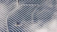 Der (hier winterlich verschneite) Solarpark in Peitz in Brandenburg wurde von der KfW mitfinanziert.