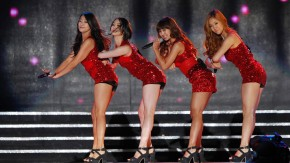 K-pop idol group SISTAR performs at the Hallyu (Korean Wave) Dream Festival in Gyeongju